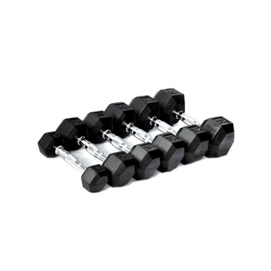Rubberized Hex Dumbbell 60LB