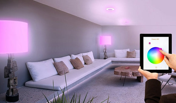 Smart Home Lighting Controlling Colors through Smartphone app