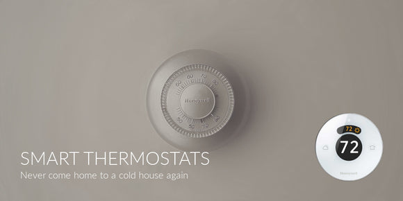 Thermostat on wall Honeywell Lyric Wi-Fi Smart Thermostat
