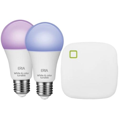 ERIA A19 Colors and White Shades Smart Lighting Starter Kit