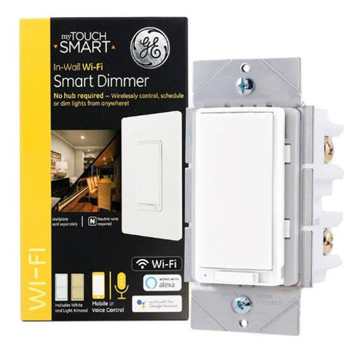 GE 40794 MyTouchSmart In-Wall Wi-Fi Smart Dimmer