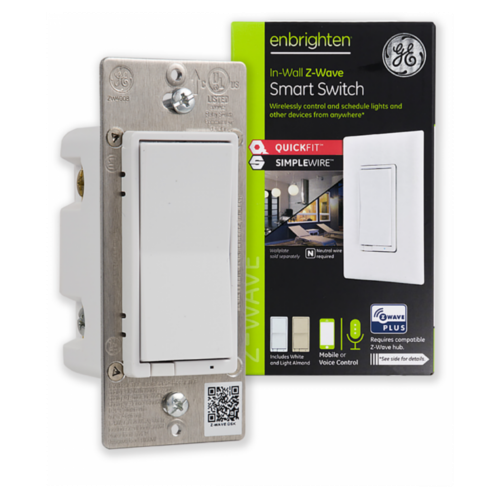 GE Enbrighten Z-Wave Plus In-Wall Smart Switch with QuickFit and SimpleWire