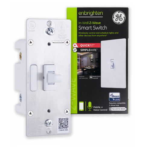 GE Enbrighten Z-Wave Plus In-Wall Toggle Smart Switch with QuickFit and SimpleWire