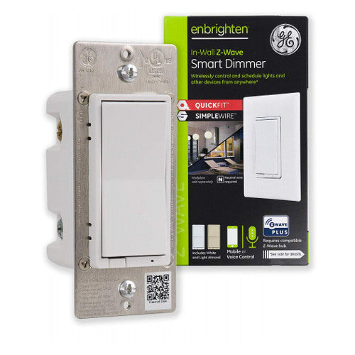 GE Enbrighten Z-Wave Plus In-Wall Smart Dimmer with QuickFit and SimpleWire