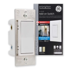 GE Enbrighten In-Wall Add-On Smart Switch with QuickFit and SimpleWire