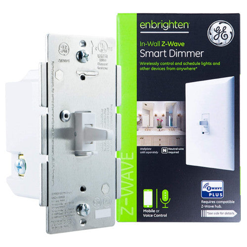 GE Enbrighten Z-Wave Plus In-Wall Toggle Smart Dimmer