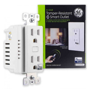 GE 14288 Z-Wave Plus In-Wall Tamper-Resistant Smart Outlet
