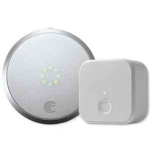 August Smart Lock Pro and Connect Bundle Silver