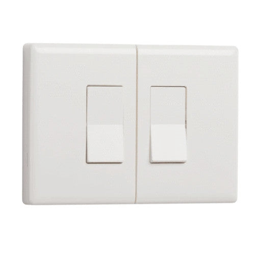 Ecolink Z-Wave Plus Wireless Motorized Dual Rocker Smart Switch