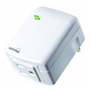 Leviton DL15A-1BW Zigbee Decora RF Plug-In Smart Outlet