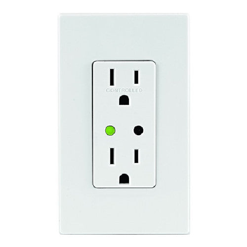 Leviton DZR15-1RZ 15 Amp Z-Wave Decora Smart Receptacle