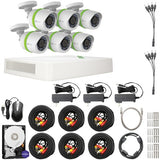 EZVIZ Smart Home Security 1080p 2TB 8-Channel DVR with 6 Weatherproof HD Cameras