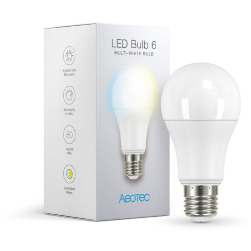 Aeotec ZWA001 Dimmable Multi-White Smart LED Bulb 6