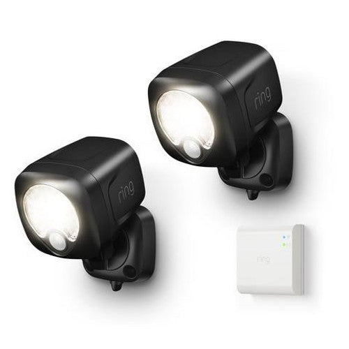 Ring Smart Lighting Spotlight Kit with 2 Spotlights and Bridge