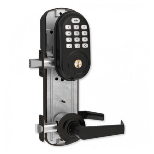 Yale Assure Lock Interconnected Push Button Lever Smart Lock with Z-Wave