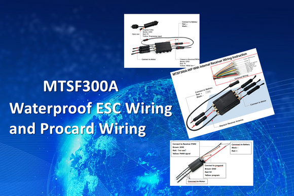 Efoil/Surfboard/Boat MTSF300A Waterproof ESC Wiring and Procard Wiring