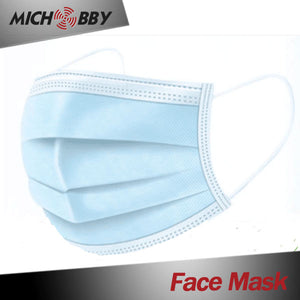 IN SOTCK! Face Mask Bule Disposable Non-Mask 3ply Woven Face Mask Earloop for Virus Protection