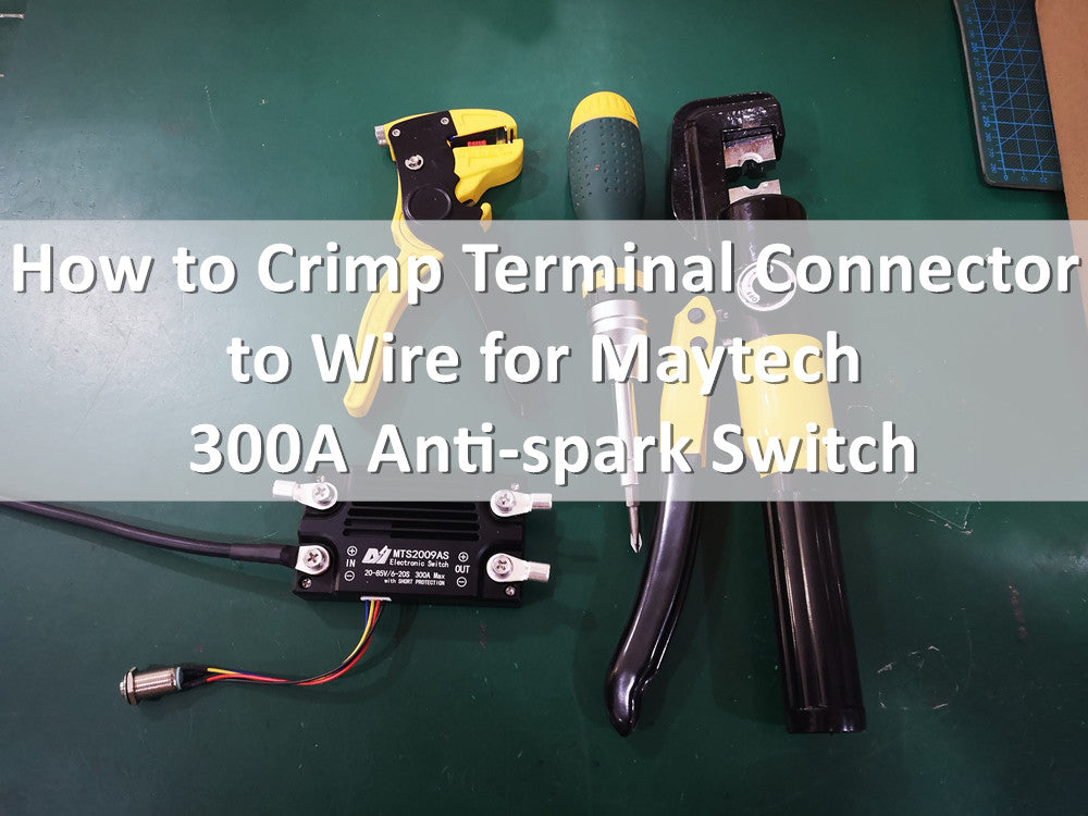 In Stock! Maytech 300A 85V antispark switch battery cut off switch with short circuit protection for electric hydrofoil surfboard efoil