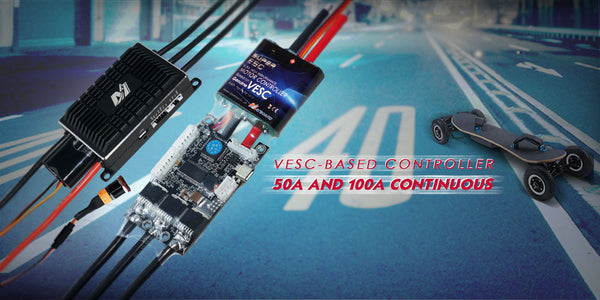 maytech brushless VESC compatible to brushless and brushed motors compatible VESC_TOOL firmware updatable