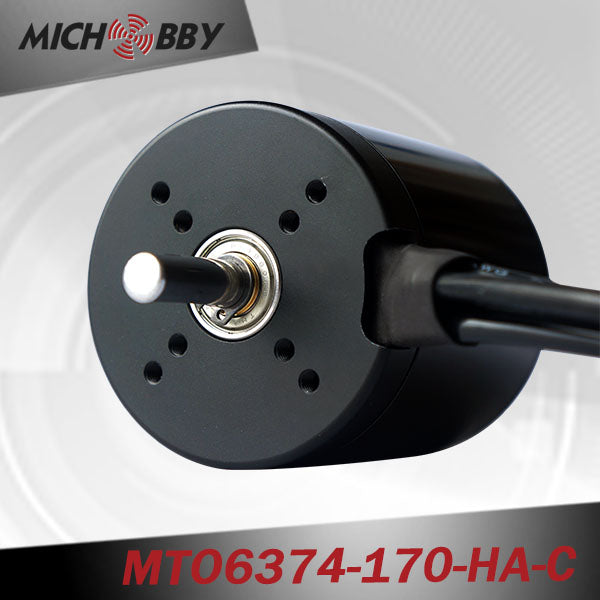 maytech brushless dc motor 6374 170KV with black closed cover for electric longboard all terrain offroad skateboard