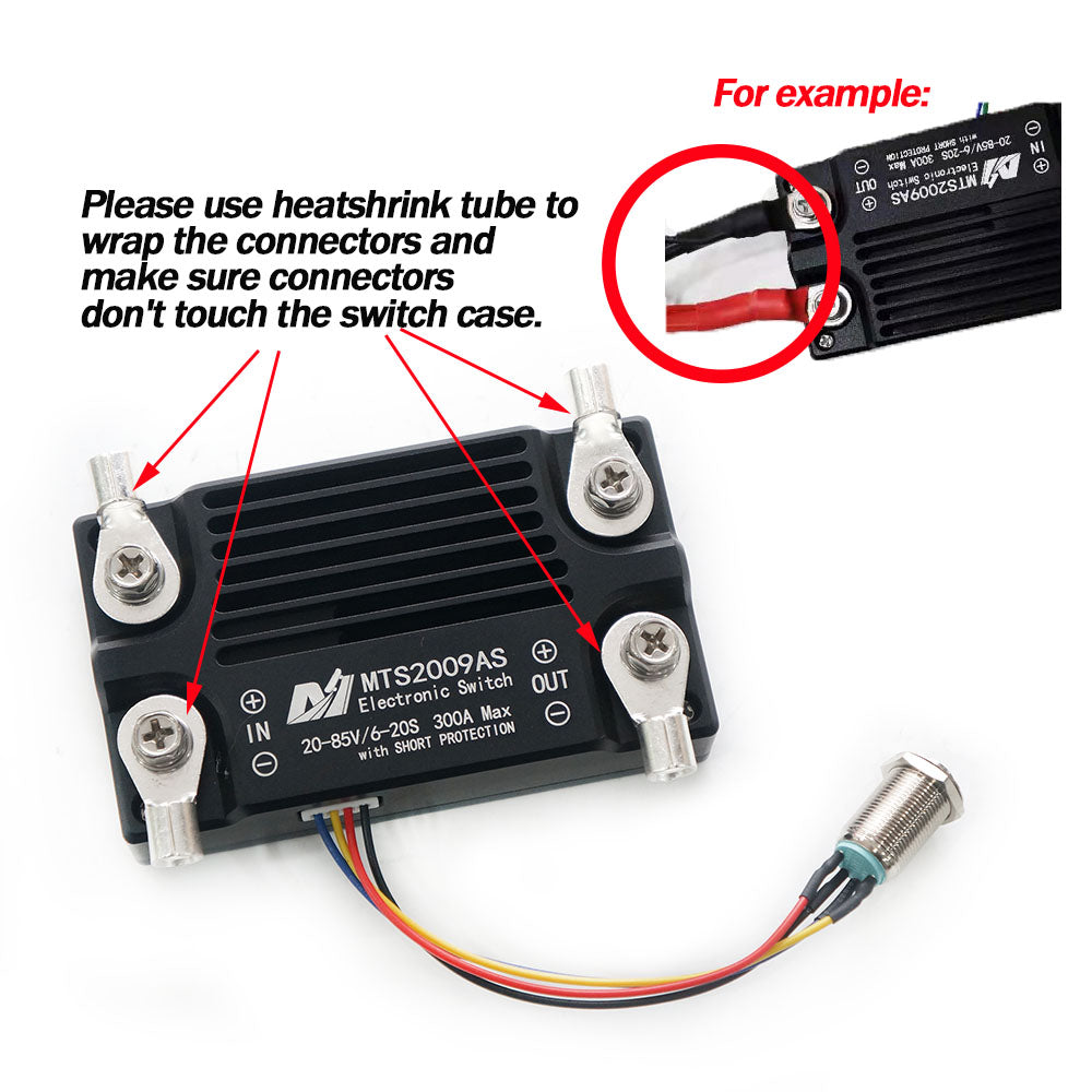 300A 85V antispark switch battery cut off switch with short circuit protection for electric hydrofoil surfboard efoil