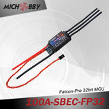 100A 6S FP Brushless ESC 32bit Speed Controller for RC Airplanes MT100A‐SBEC‐FP32