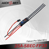25A 4S FP Brushless ESC 32bit Speed Controller for RC Airplanes MT25A‐SBEC‐FP32