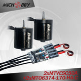 Maytech electric engine 6374 170kv electric outrunner and 50A VESC based controller for eskate