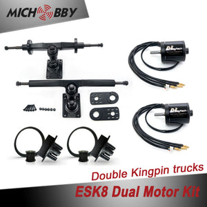 Esk8 Dual 5065 Motor Kit Electric longboard kit dual motor trucks with motor mounts and pulleys