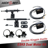 Esk8 Dual 6374 Motor Kit Electric longboard kit dual motor trucks with motor mounts and pulleys