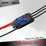 70A 6S FP Brushless ESC 32bit Speed Controller for RC Airplanes MT70A‐SBEC‐FP32