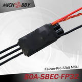 80A 6S FP Brushless ESC 32bit Speed Controller for RC Airplanes MT80A‐SBEC‐FP32