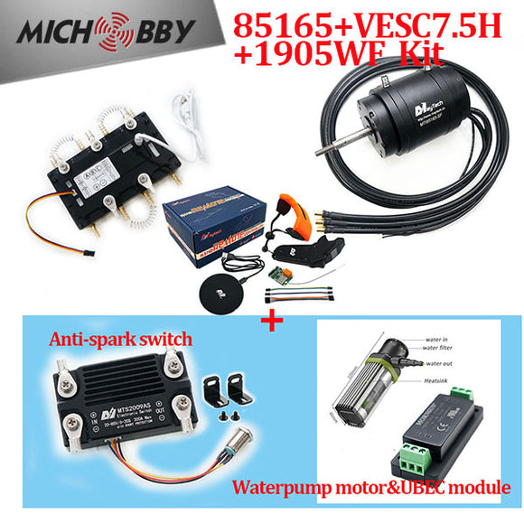 Maytech Efoil Surfboard Kits 85165 Motor + Watercooled 300A VESC based ESC + V2 Remote