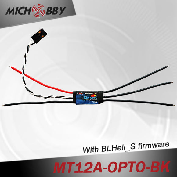 12A Brushless ESC BLHeli_S Firmware Speed controller for Multicopters Drones MT12A-OPTO-BK