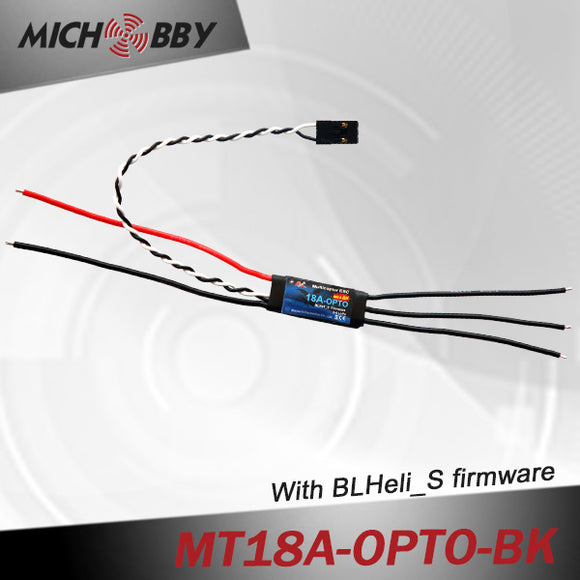 18A Brushless ESC BLHeli_S Firmware Speed controller for Multicopters Drones MT18A-OPTO-BK