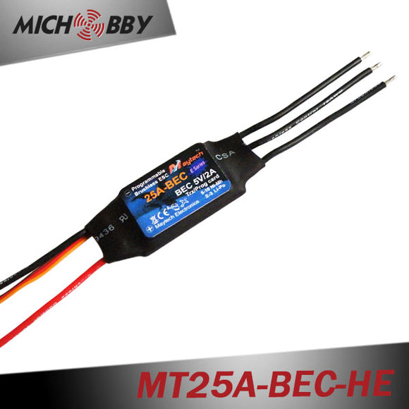 25A 3S ESC Brushless Electric Speed Controller for RC Airplanes Helicopters MT25A-BEC-HE