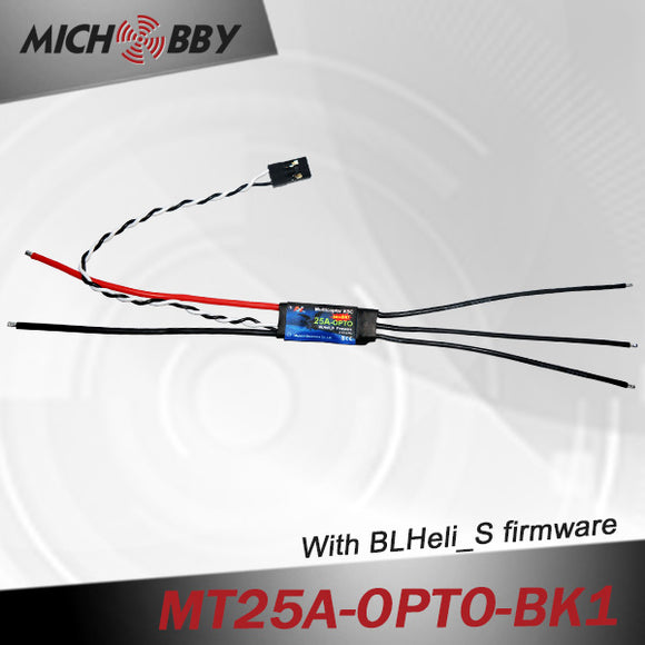 25A Brushless ESC BLHeli_S Firmware Speed controller for Multicopters Drones MT25A-OPTO-BK1/BK2