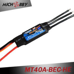 40A 4S ESC Brushless Electric Speed Controller for RC Airplanes Helicopters MT40A-BEC-HE