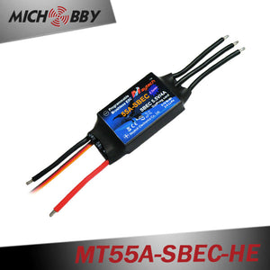 55A 4S ESC Brushless Electric Speed Controller for RC Airplanes Helicopters MT55A-SBEC-HE