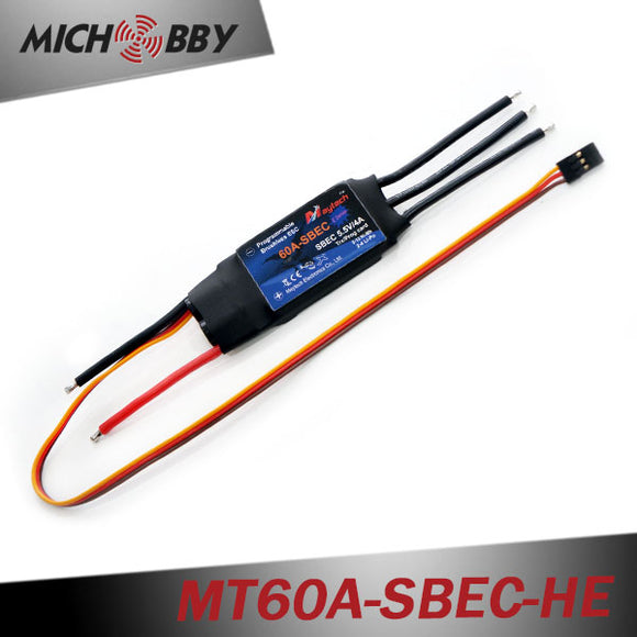 60A 6S ESC Brushless Electric Speed Controller for RC Airplanes Helicopters MT60A-SBEC-HE