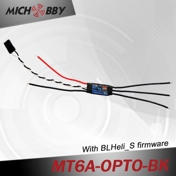 6A Brushless ESC BLHeli_S Firmware Speed controller for Multicopters Drones MT6A-OPTO-BK