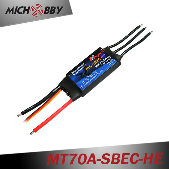 70A 6S ESC Brushless Electric Speed Controller for RC Airplanes Helicopters MT70A-SBEC-HE