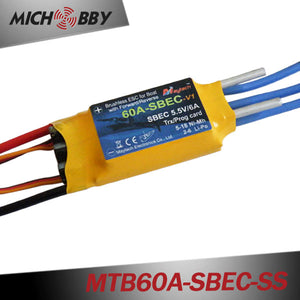 MTB60A-SBEC-SS 60A 6S Brushless ESC Speed Controller for RC Fish Finder Fish Boat gps autopilot feeding boats