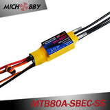 MTB80A-SBEC-SS 80A 6S Brushless ESC Speed Controller for remote control fishing bait boat fish finder
