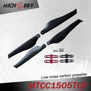 Maytech Low noise MTCC1505TQF 15inch carbon fiber balsa wood Composite propeller quiet propeller for multicotper