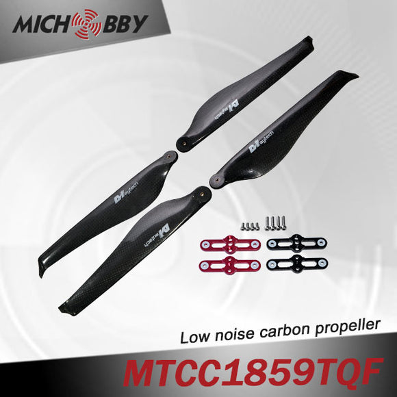 Maytech Low noise MTCC1859TQF 18inch carbon fiber balsa wood Composite propeller for agricultural drones aerial photography