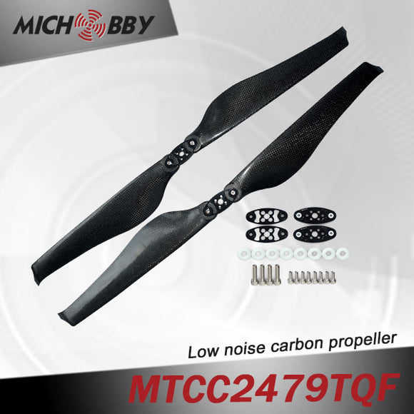 In Stock! Maytech Low noise MTCC2479TQF 24inch carbon fiber balsa wood Composite propeller for agricultural drones aerial photography