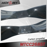 Carbon fiber propeller 26.0x8.5inch for aerial photography