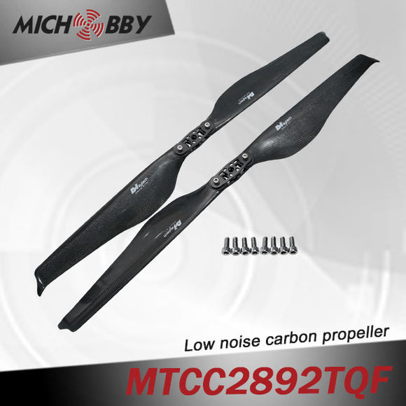 Maytech Low noise MTCC2892TQF 28inch carbon fiber balsa wood Composite propeller for agricultural drones aerial photography