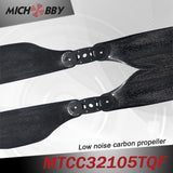 In Stock! Maytech Low noise MTCC32105TQF 32inch carbon fiber balsa wood Composite propeller for agricultural drones aerial photography